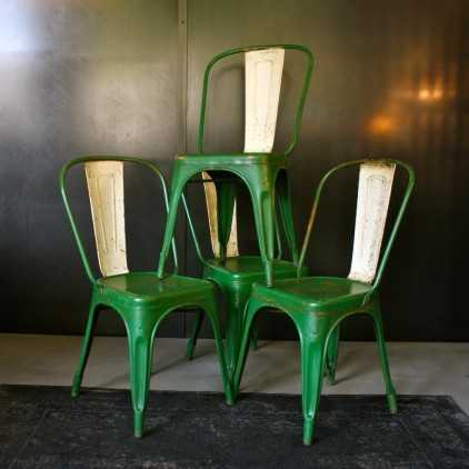 Chaise TOLIX verte modèle A