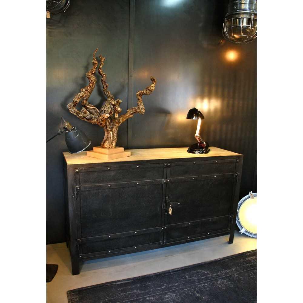 Petit meuble industriel les nouveaux brocanteurs - Petit meuble metal industriel ...