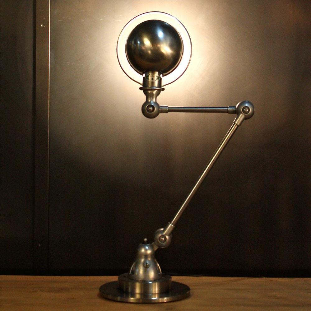 Ancienne lampe industrielle Jielde 2 bras | Les Nouveaux Brocanteurs