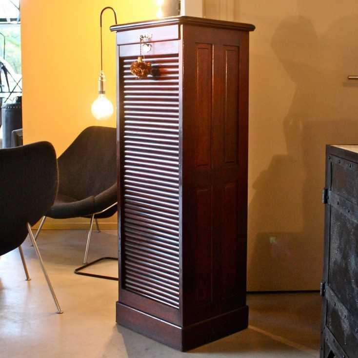 classeur rideau en acajou les nouveaux brocanteurs. Black Bedroom Furniture Sets. Home Design Ideas