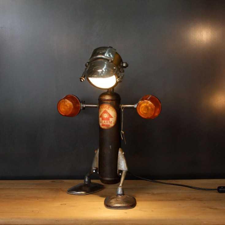 """Lampe """"Robots"""" - récup garage"""