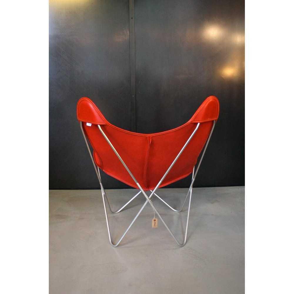 butterfly aa de airborne en cuir rouge les nouveaux. Black Bedroom Furniture Sets. Home Design Ideas