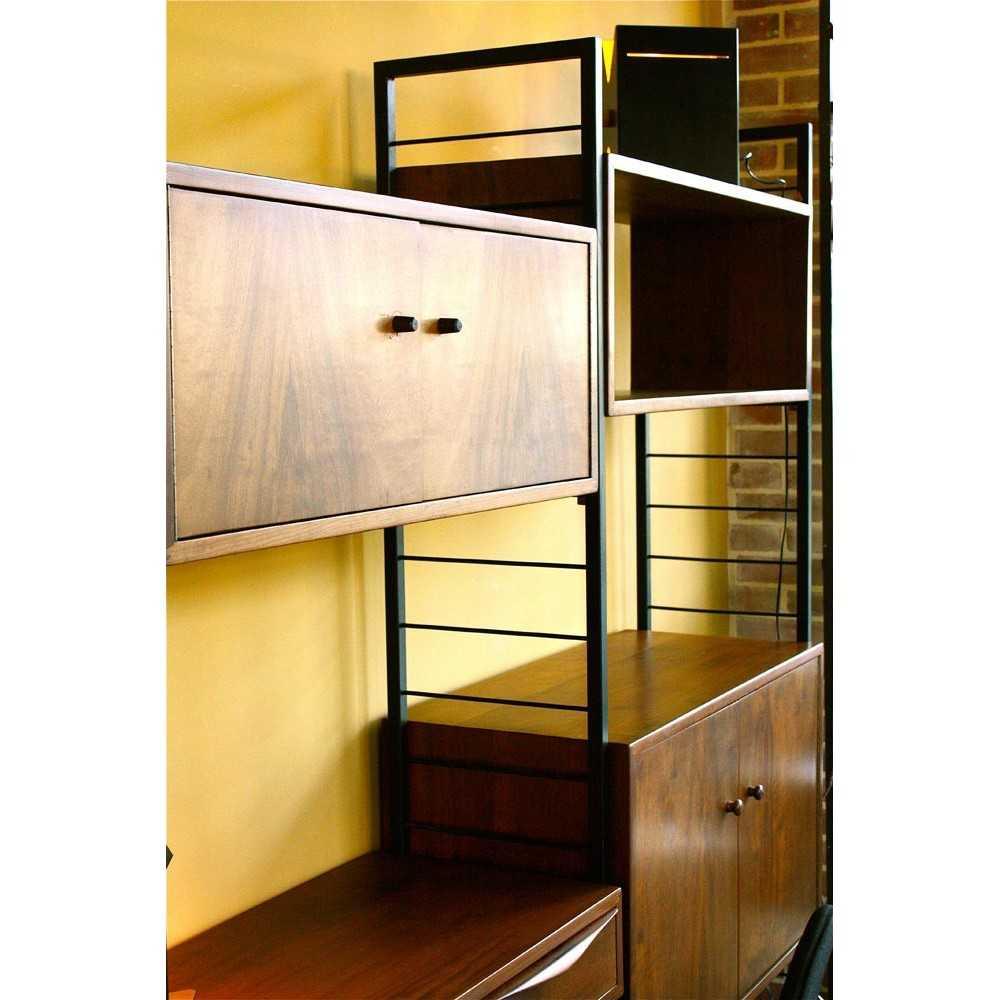 biblioth que scandinave modulable vers 1960 les nouveaux brocanteurs. Black Bedroom Furniture Sets. Home Design Ideas