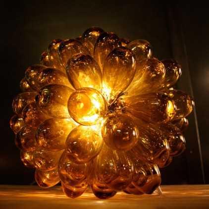 Lampe grappe de verre