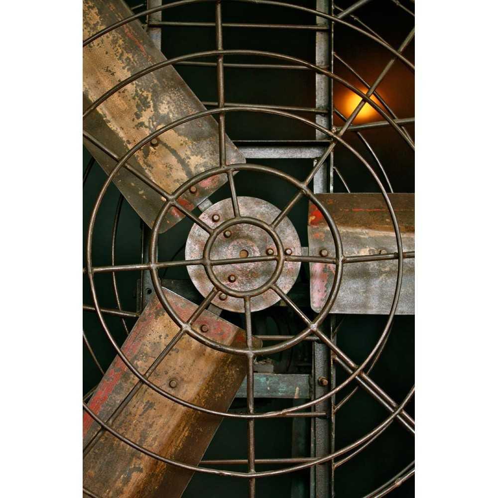 Grand Ventilateur industriel ancien sur pied Les