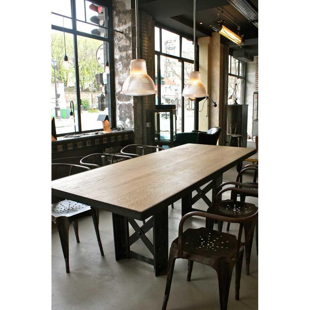 Table manger industrielle les nouveaux brocanteurs - Table industrielle avec rallonge ...