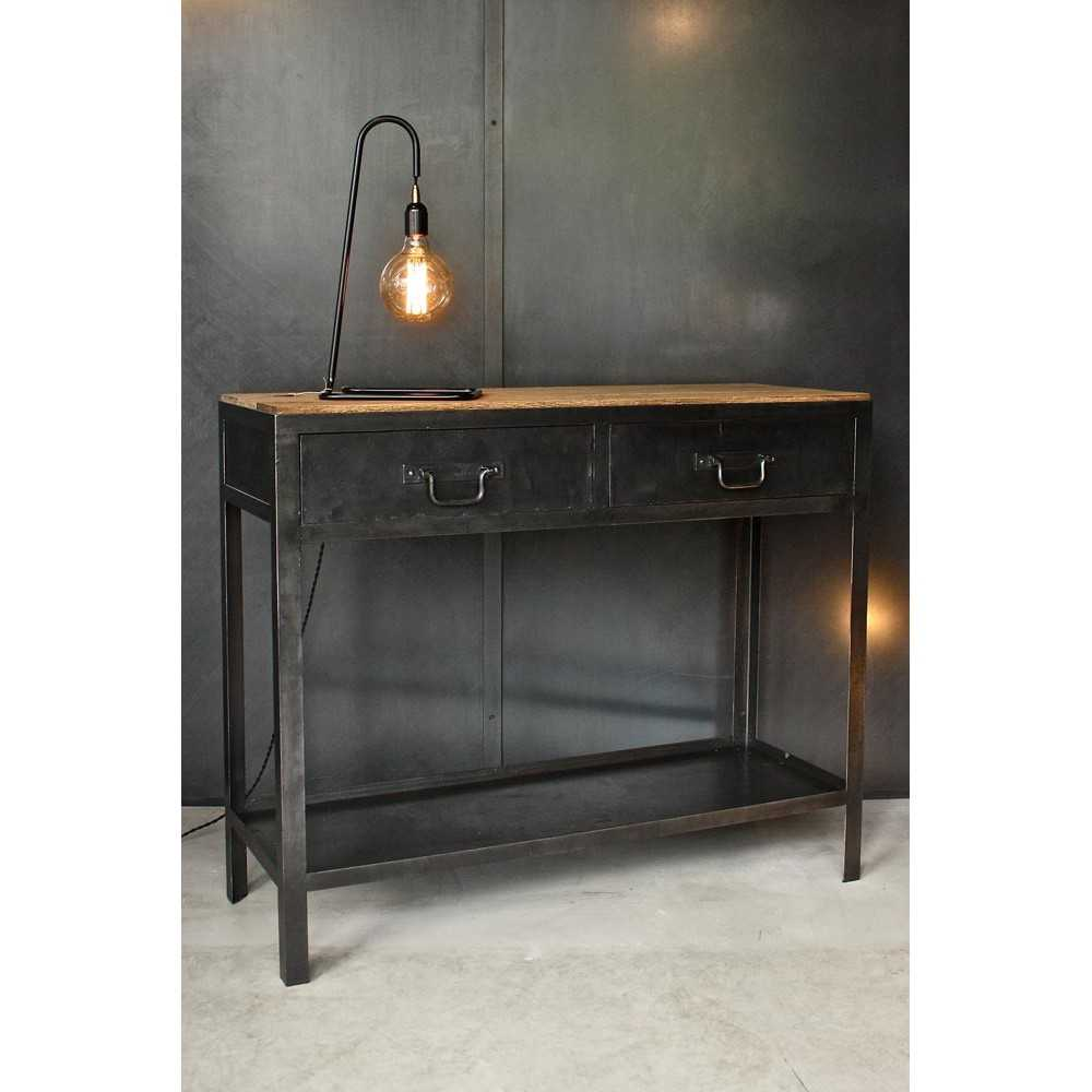 console metal bois amazing medium size of boisconsole en. Black Bedroom Furniture Sets. Home Design Ideas