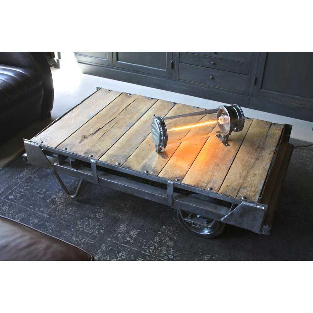 Table basse industrielle for Meuble tv joris