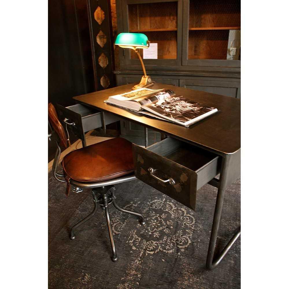 bureau industriel en m tal les nouveaux brocanteurs. Black Bedroom Furniture Sets. Home Design Ideas