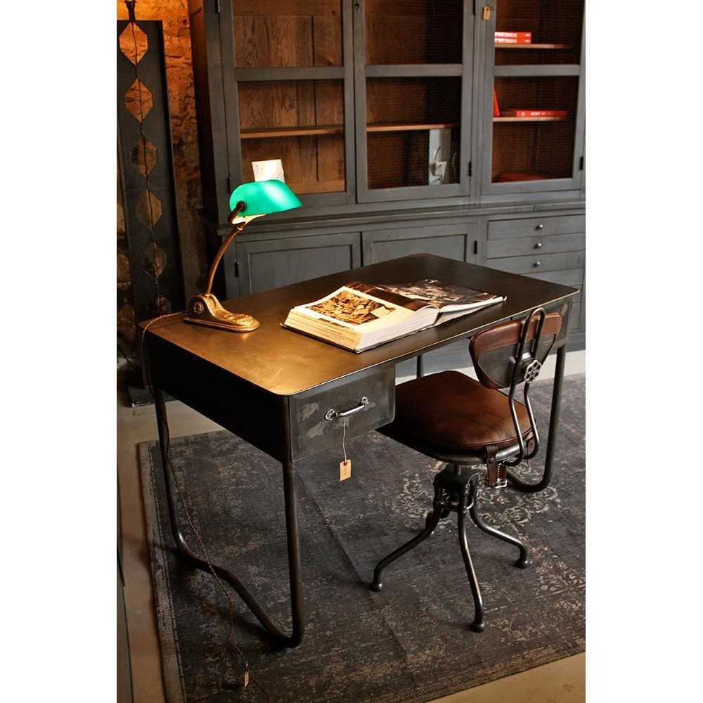 bureau industriel en m tal les nouveaux brocanteurs. Black Bedroom Furniture Sets. Home Design Ideas
