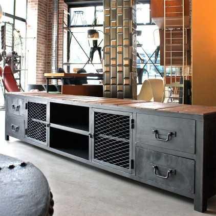 Meuble industriel - meuble TV sur mesure