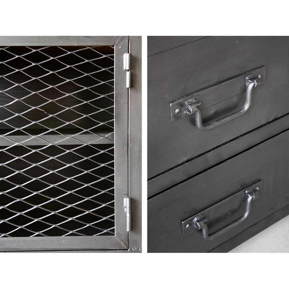 meuble industriel meuble tv sur mesure les nouveaux brocanteurs. Black Bedroom Furniture Sets. Home Design Ideas