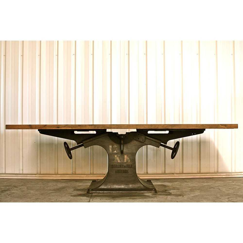 Table industrielle pied central en fonte les nouveaux - Pied de table original ...