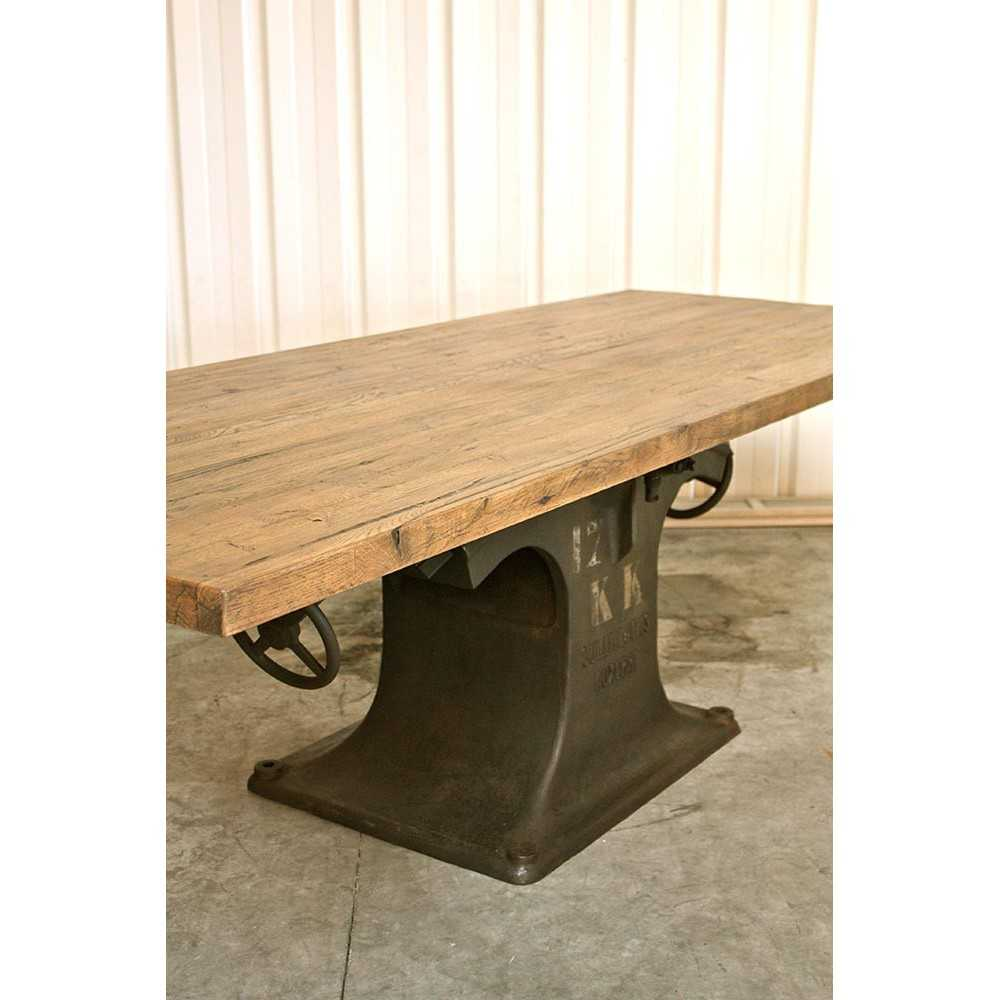 table industrielle pied central en fonte les nouveaux. Black Bedroom Furniture Sets. Home Design Ideas