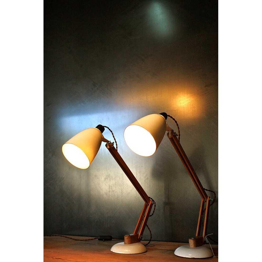 Lampe de bureau vintage les nouveaux brocanteurs - Lampe de bureau fille ...