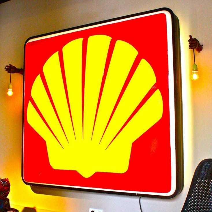 Enseigne Lumineuse Shell Les Nouveaux Brocanteurs
