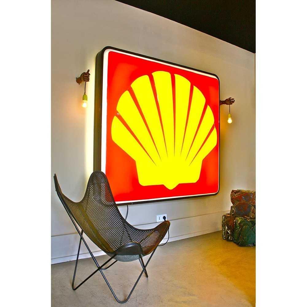 Enseigne lumineuse shell les nouveaux brocanteurs for Enseigne deco