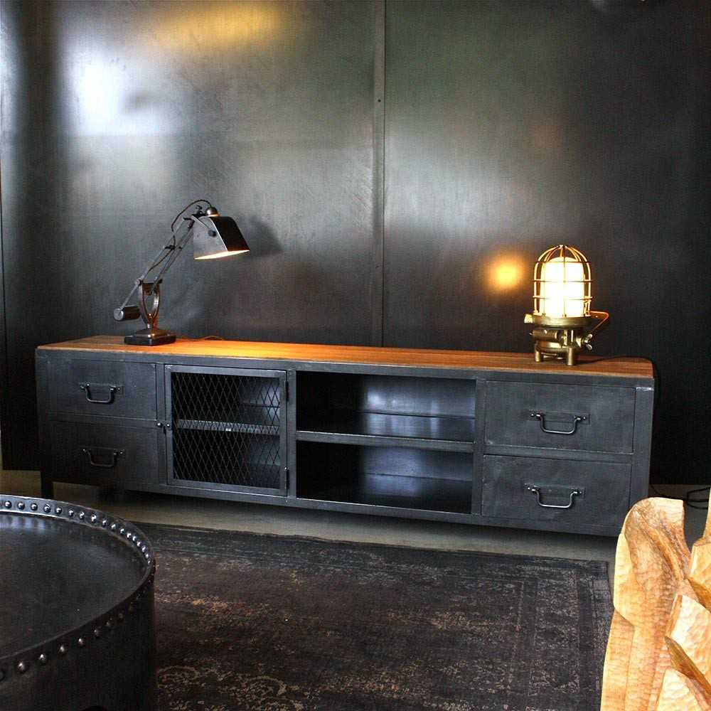 meuble tv industriel sur mesure les nouveaux brocanteurs. Black Bedroom Furniture Sets. Home Design Ideas