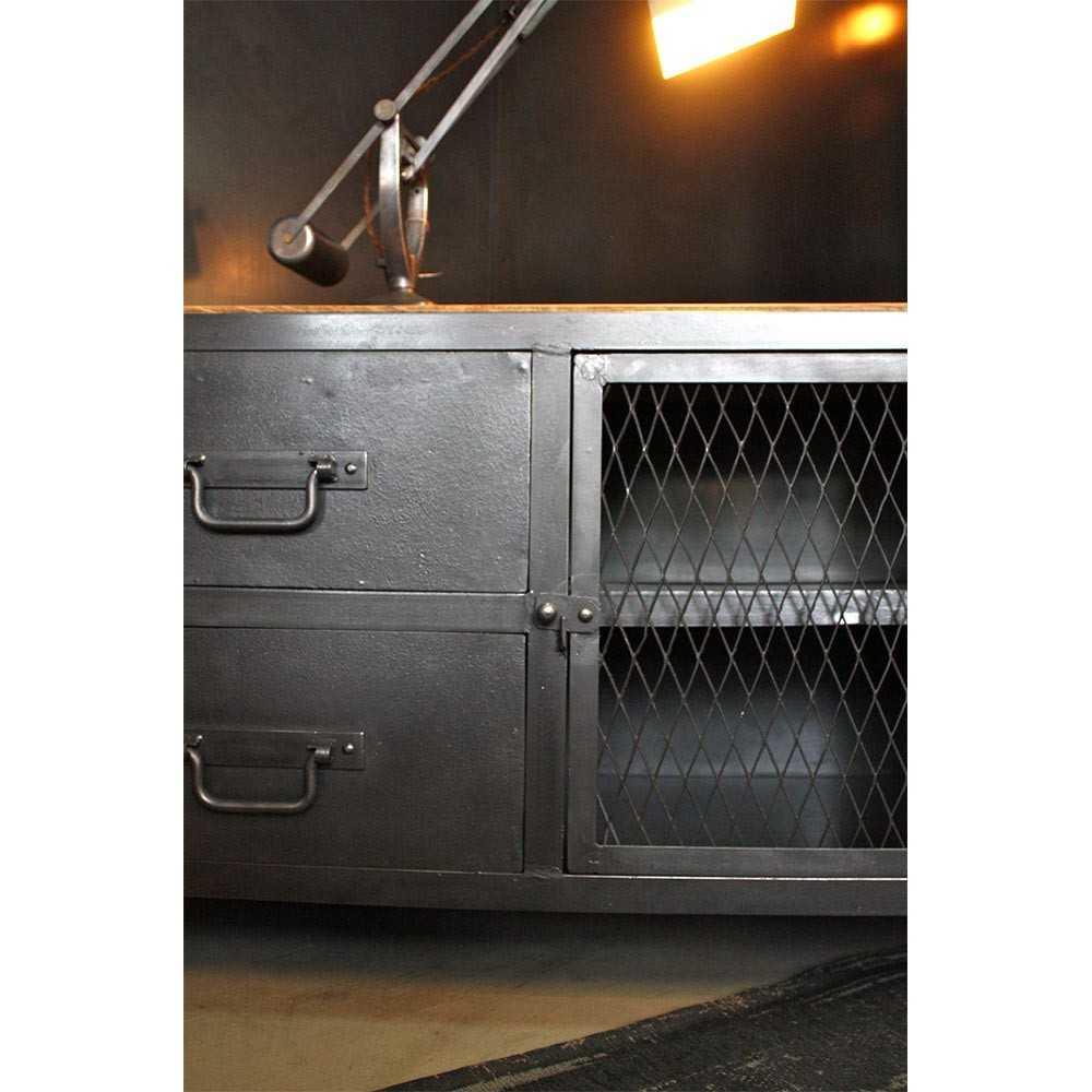 Meuble tv industriel sur mesure les nouveaux brocanteurs for Industriel meuble
