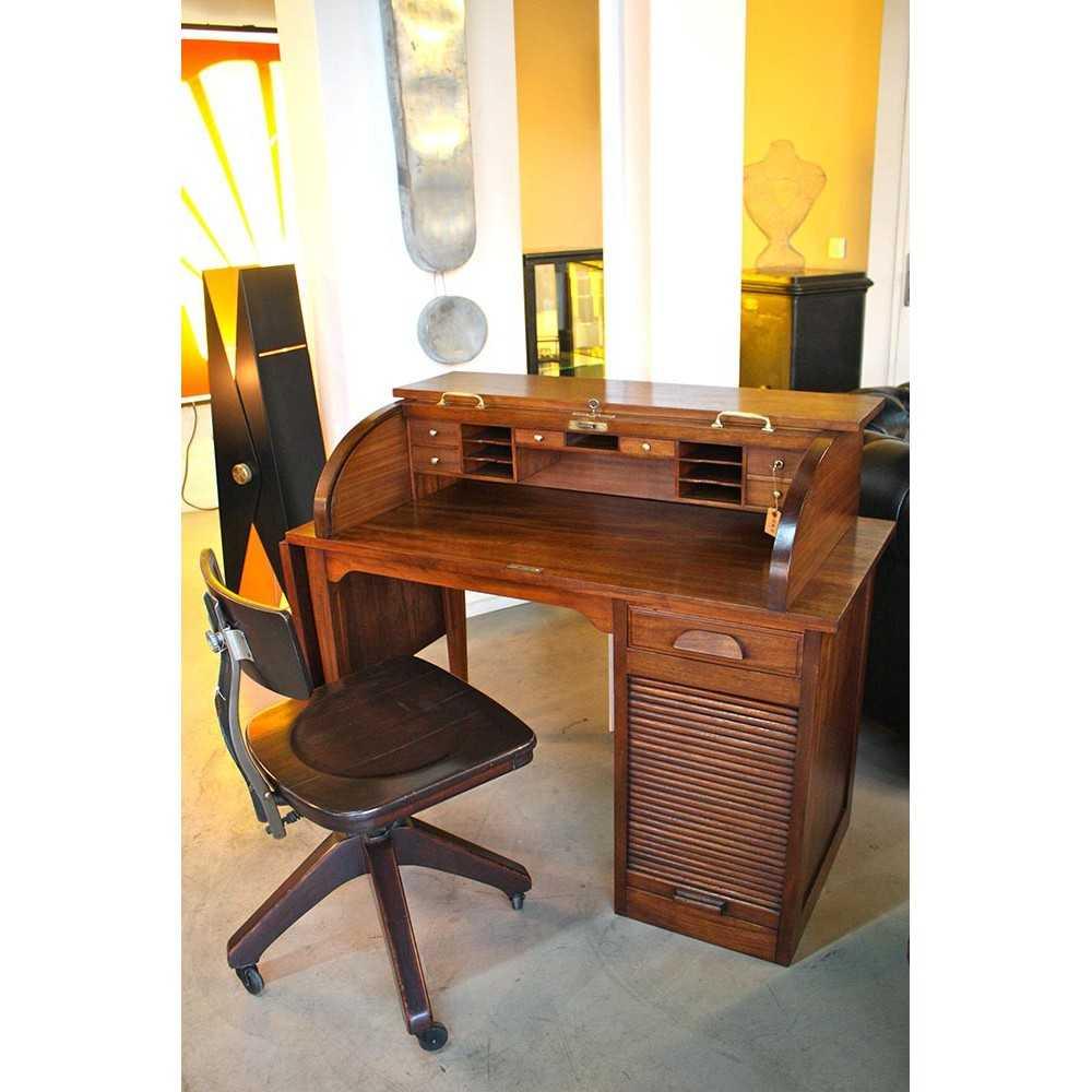 petit bureau am ricain acajou les nouveaux brocanteurs. Black Bedroom Furniture Sets. Home Design Ideas