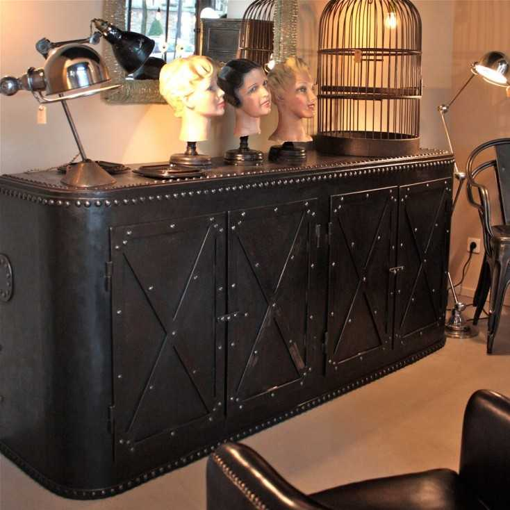meuble industriel rivet les nouveaux brocanteurs. Black Bedroom Furniture Sets. Home Design Ideas