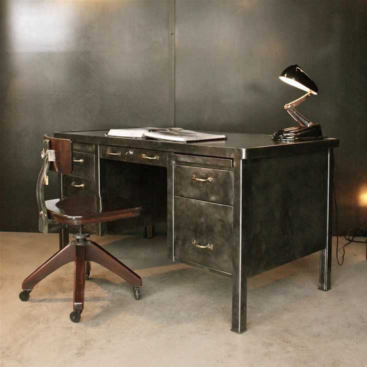 bureau strafor mobilier industriel les nouveaux brocanteurs. Black Bedroom Furniture Sets. Home Design Ideas