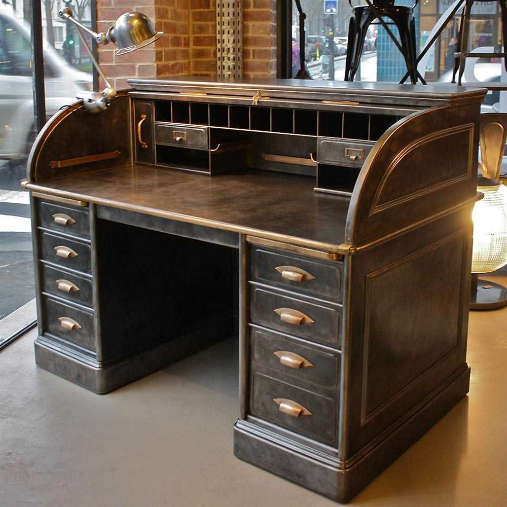 bureau am ricain art metal construction co les nouveaux brocanteurs. Black Bedroom Furniture Sets. Home Design Ideas