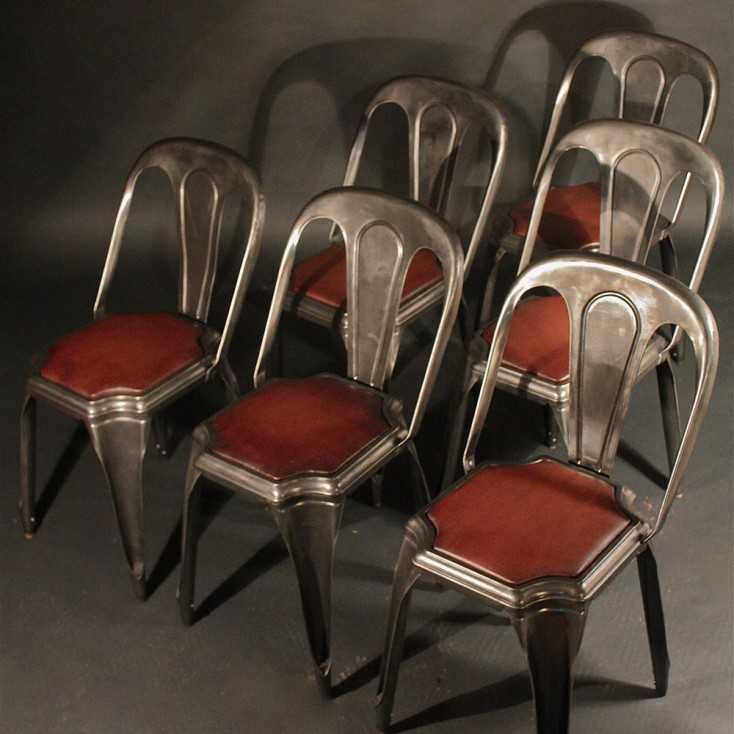 Chaise Industrielle Fibrocit Metal Et Cuir