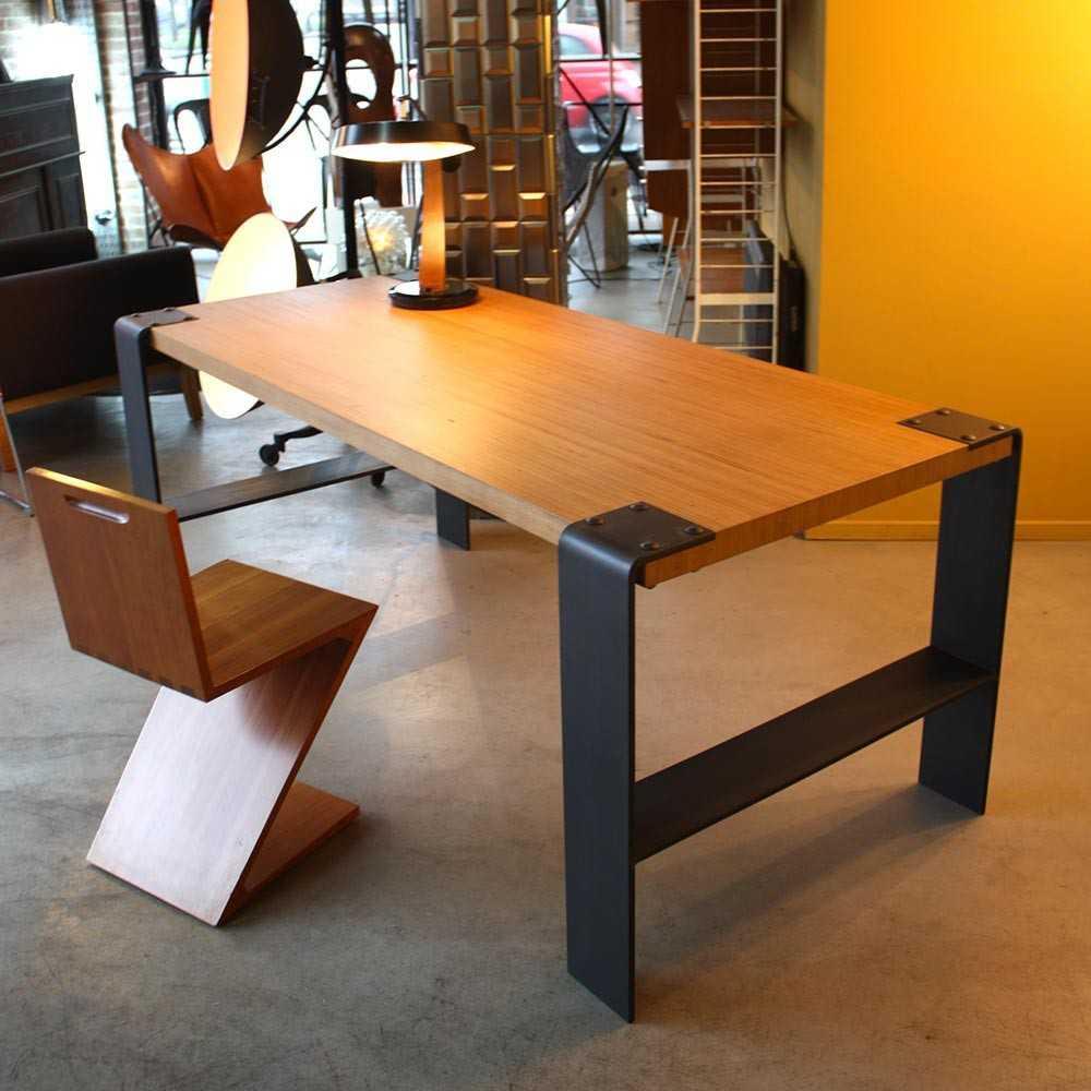 Table - Bureau industriel  Les Nouveaux Brocanteurs