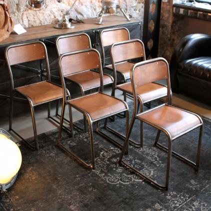 chaise d 39 cole ancienne de type mullca les nouveaux brocanteurs. Black Bedroom Furniture Sets. Home Design Ideas
