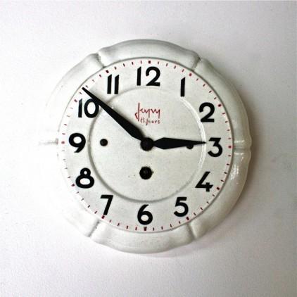 Ancienne horloge en céramique JAPY