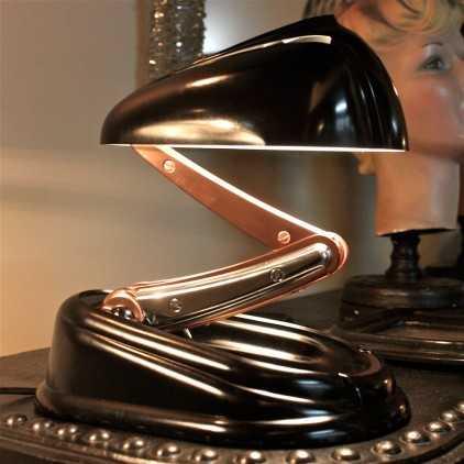 "Lampe JUMO ""Bolide"" Bakélite noire"