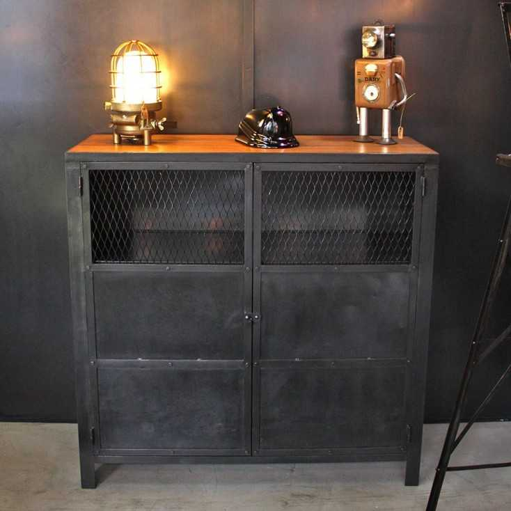 meuble industriel type atelier les nouveaux brocanteurs. Black Bedroom Furniture Sets. Home Design Ideas