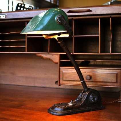 """Ancienne lampe de notaire """"NIAM"""""""