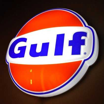 """Enseigne lumineuse """"Gulf"""""""