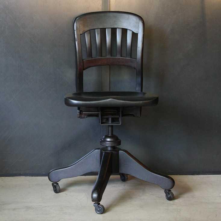 Ancienne chaise de bureau US  Les Nouveaux Brocanteurs
