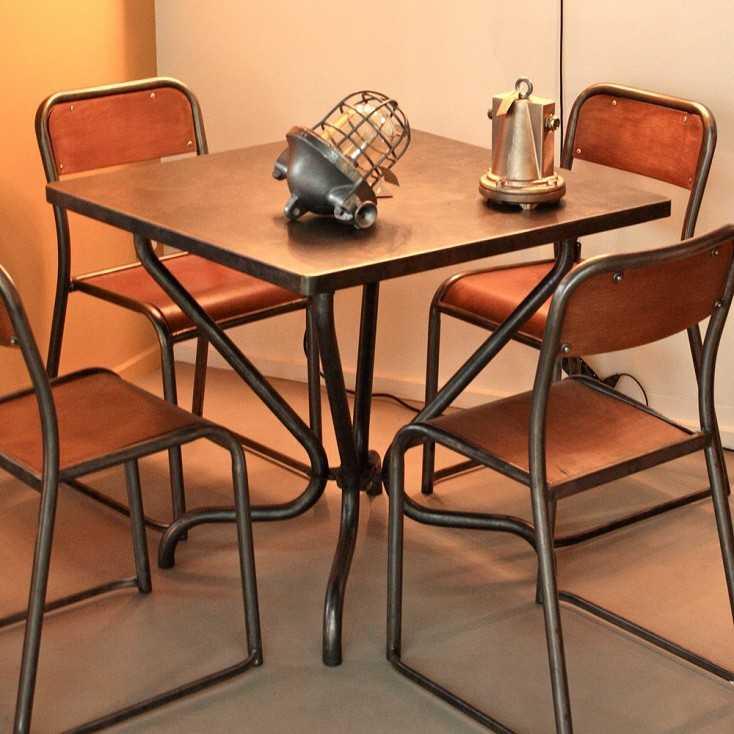 table bistrot tolix les nouveaux brocanteurs. Black Bedroom Furniture Sets. Home Design Ideas