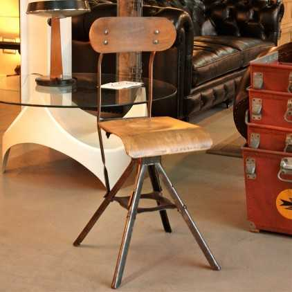Chaise industrielle anglaise