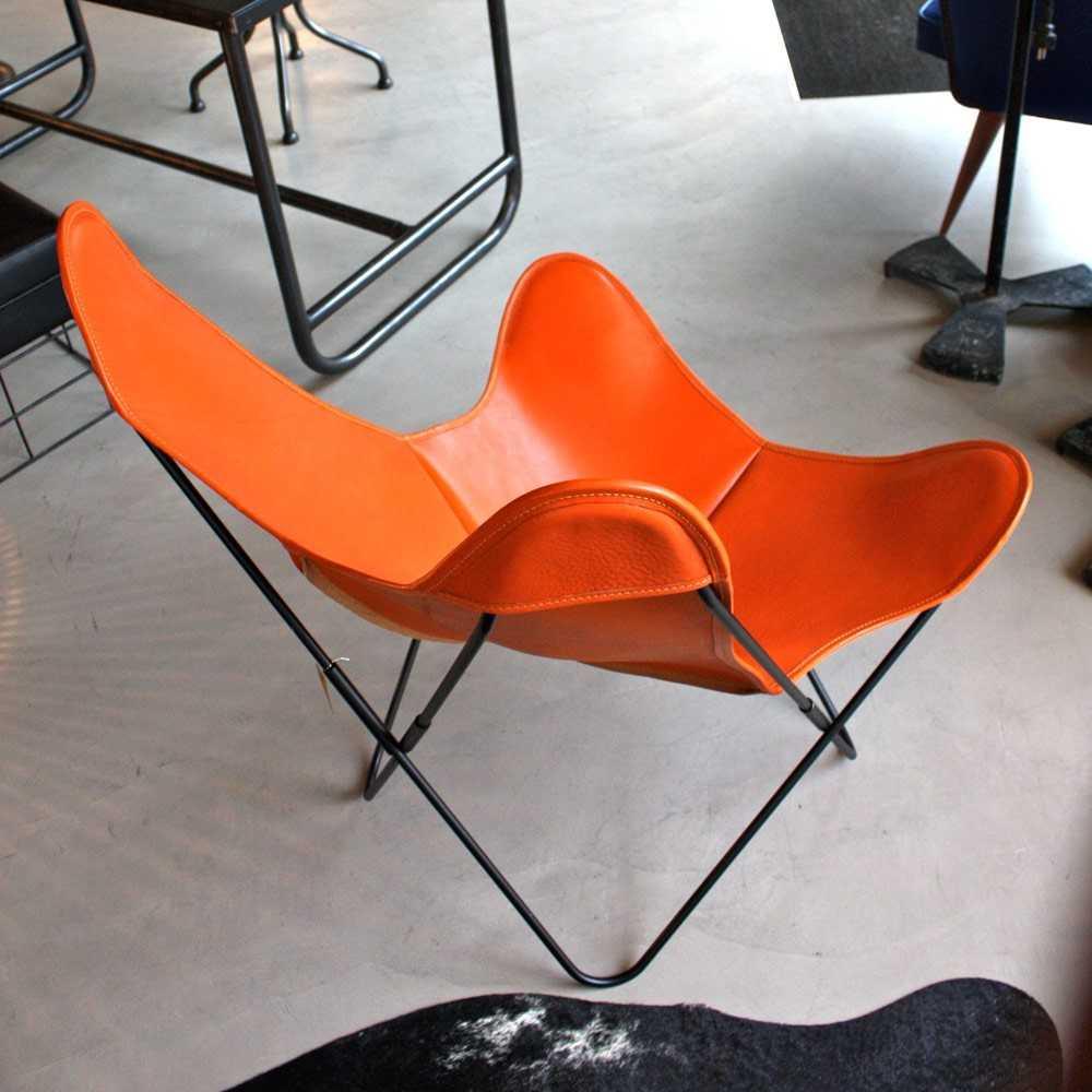 fauteuil aa airborne cuir buffalo orange les nouveaux brocanteurs. Black Bedroom Furniture Sets. Home Design Ideas
