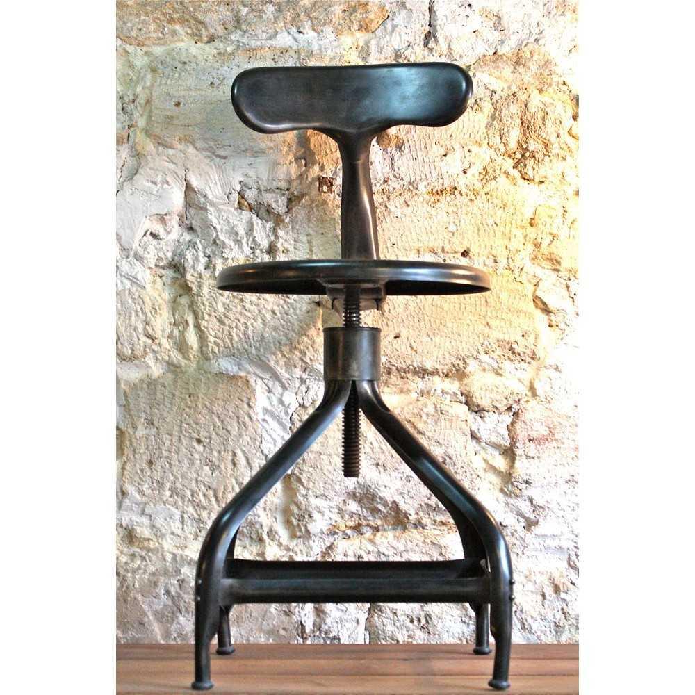 chaise industrielle nicolle les nouveaux brocanteurs. Black Bedroom Furniture Sets. Home Design Ideas