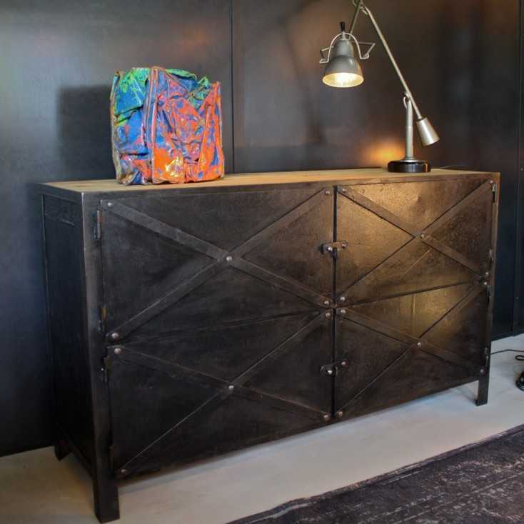 meuble industriel metal elegant meuble rangement chaussures industriel bois massif et mtal. Black Bedroom Furniture Sets. Home Design Ideas