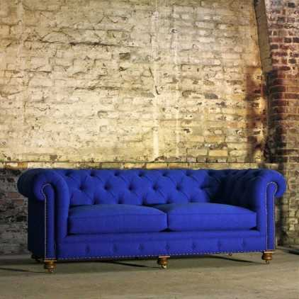 Canapé Chesterfield tissu