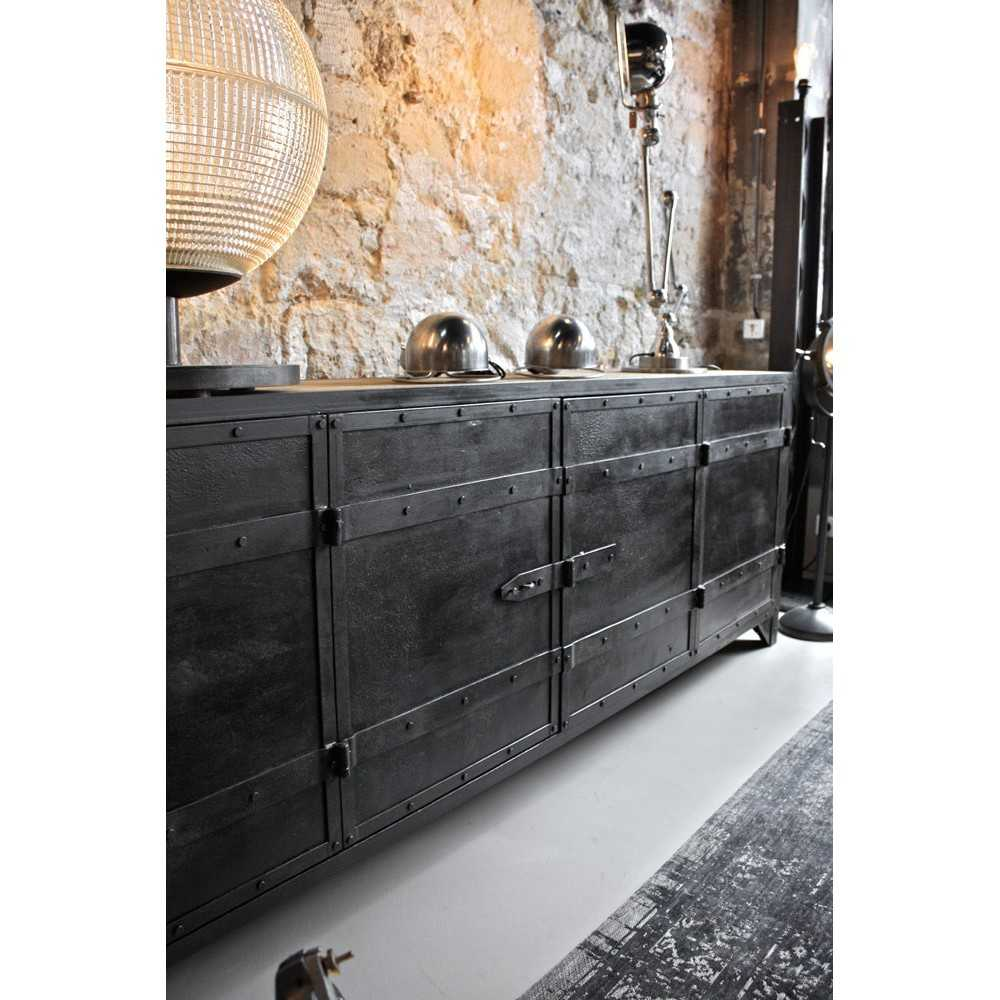 meuble d 39 atelier bois m tal les nouveaux brocanteurs. Black Bedroom Furniture Sets. Home Design Ideas