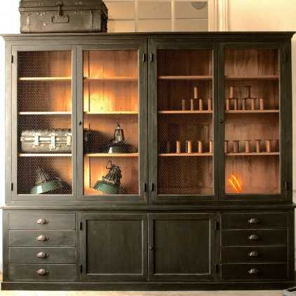 biblioth que en ch ne sur mesure les nouveaux brocanteurs. Black Bedroom Furniture Sets. Home Design Ideas