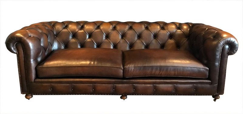 canap chesterfield en cuir marron - Canape Chesterfield Rouge Cuir
