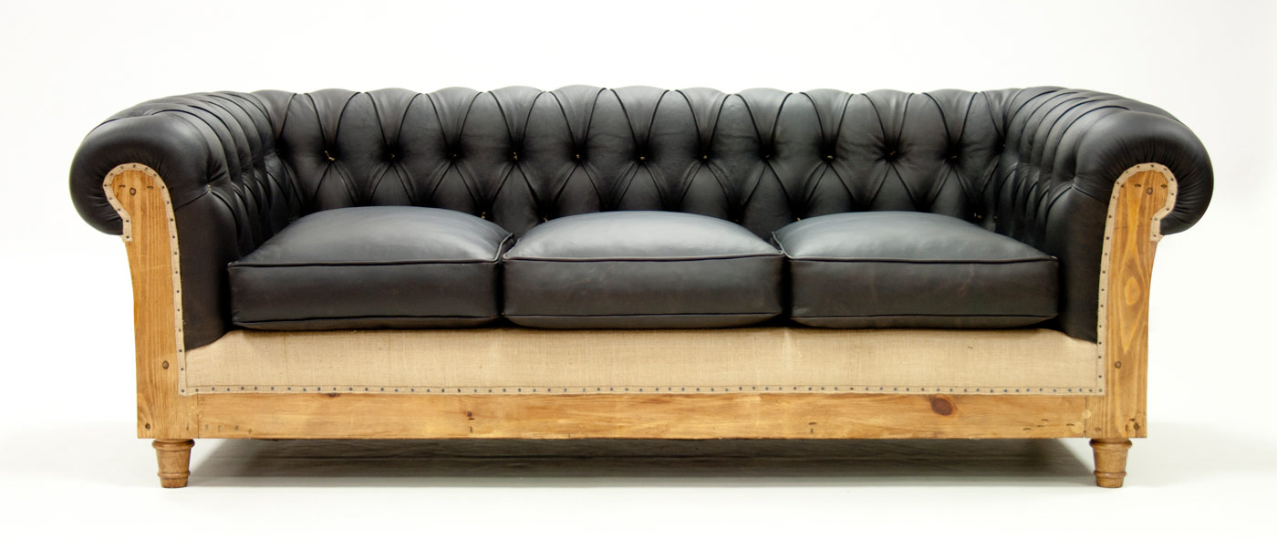 Canape chesterfield cuir occasion canap simili cuir noir for Canape chesterfield cuir occasion
