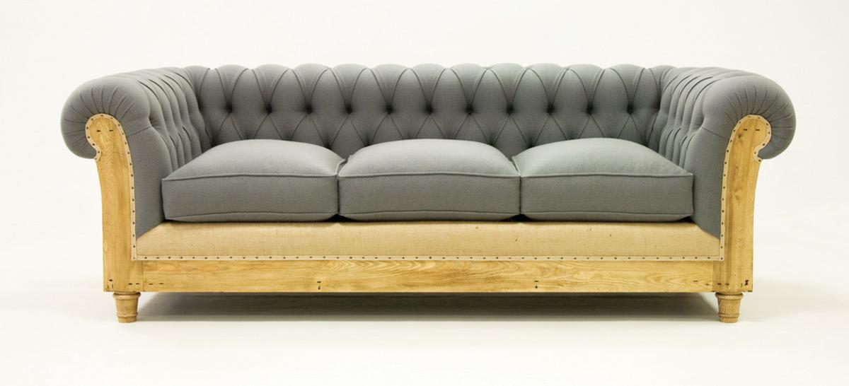 canap chesterfield d structur tissu les nouveaux. Black Bedroom Furniture Sets. Home Design Ideas