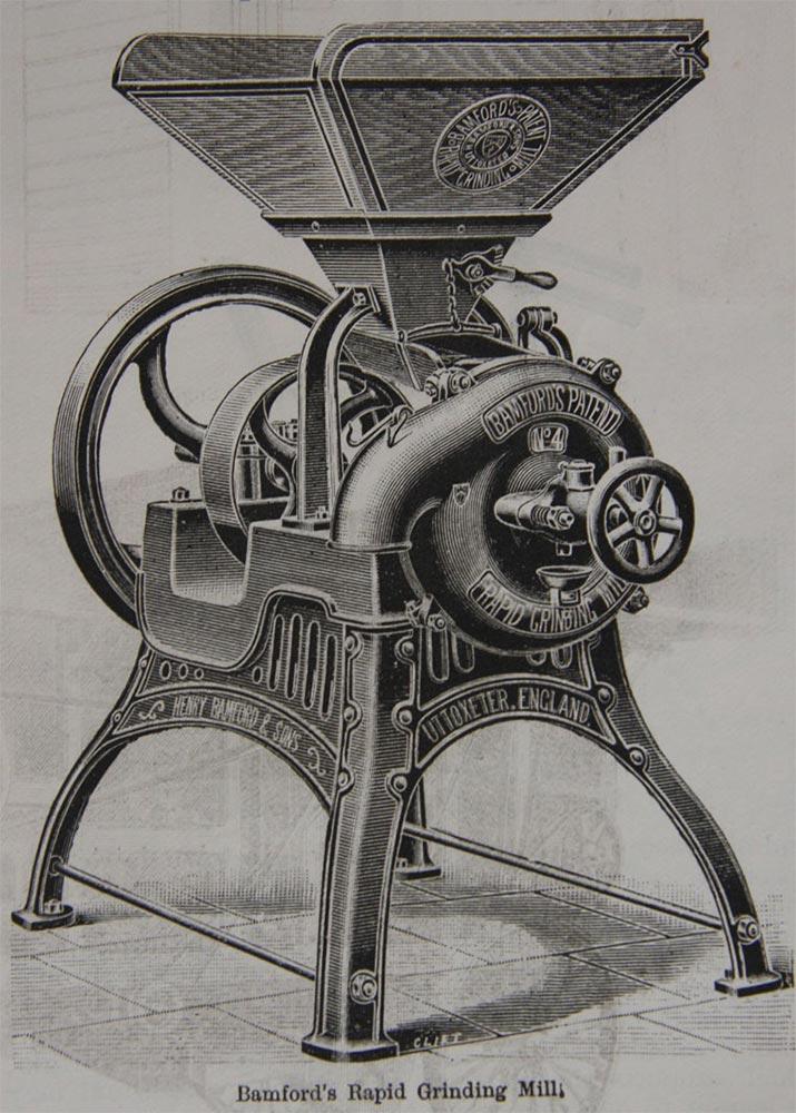 """Gravure représentant le modèle """"Bamfords"""" en 1892"""