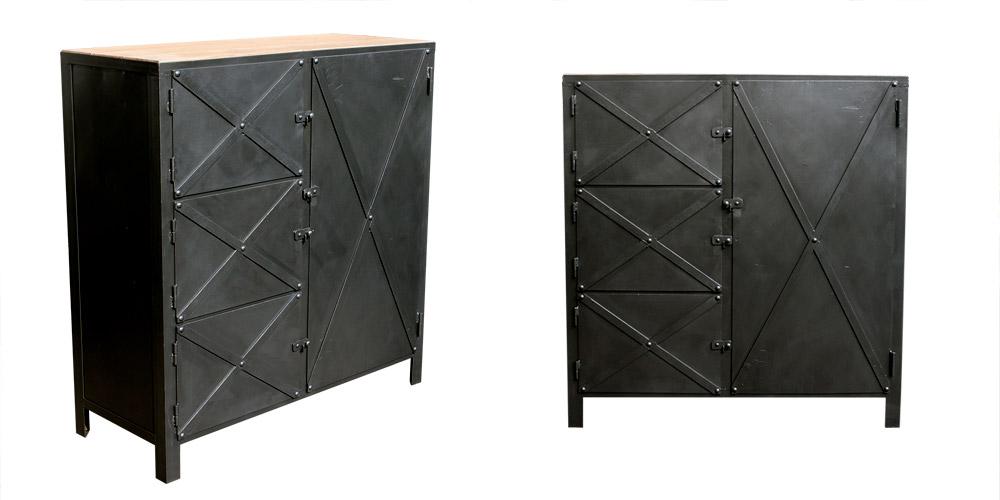Grand meuble d 39 atelier les nouveaux brocanteurs - Meuble industriel paris ...