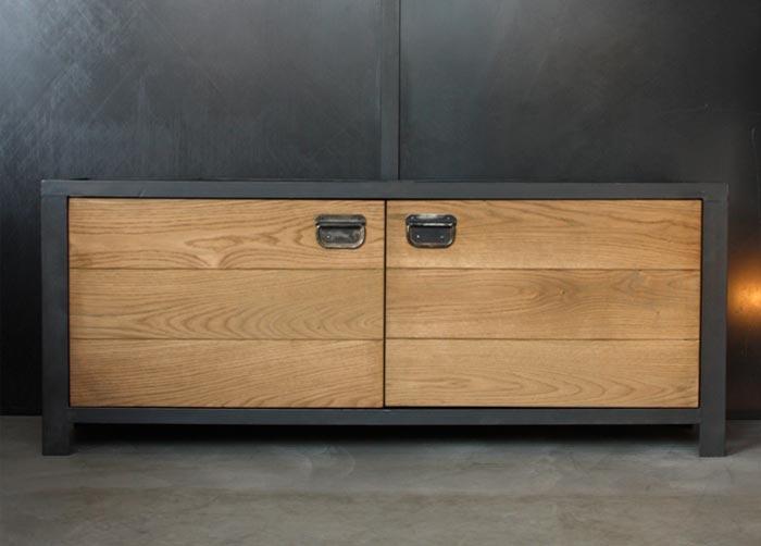 meuble TV mobilier industriel sur mesure